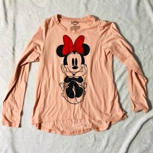 Disney Minnie Mouse Pink Long Sleeve Top Medium